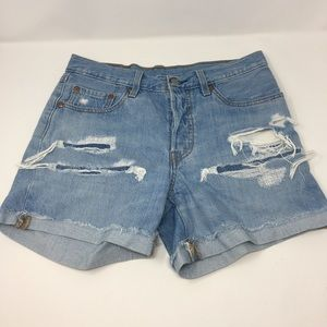Levi's 501 Factory Distressed Jean Shorts